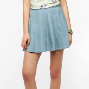 Kimchi Blue Karina Chambray Circle Skirt 10